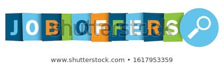 job offer blue vector icon button stock photo © rizwanali3d