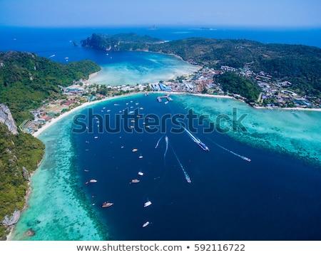 пышный Тропический остров Таиланд панорамный мнение зеленый Сток-фото © kasto