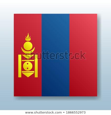 Gomb szimbólum Mongólia zászló térkép fehér Stock fotó © mayboro1964