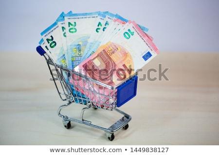 koszyk · pełny · ceny · błyszczący · metal · sto - zdjęcia stock © compuinfoto