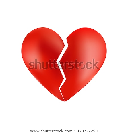 glossy broken heart Stock photo © mizar_21984