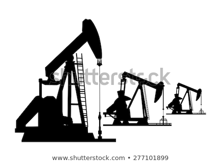 silhouette of oil pumps stock photo © ssuaphoto