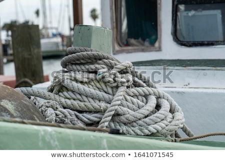 eski · balık · tutma · halat · şamandıra · kum · yelkencilik - stok fotoğraf © thp