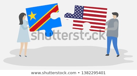 usa and republic of the congo flags in puzzle stock photo © istanbul2009