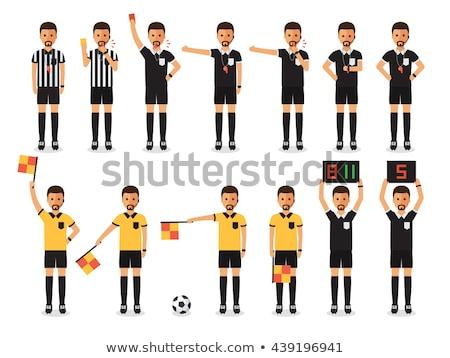 sensual · futebol · árbitro · belo · assobiar · isolado - foto stock © andreypopov