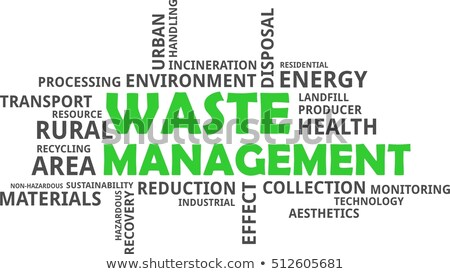 word cloud - waste management Stock photo © master_art