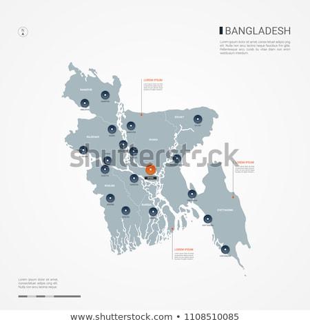 botão · Bangladesh · sol · mapa · país · mapas - foto stock © mayboro