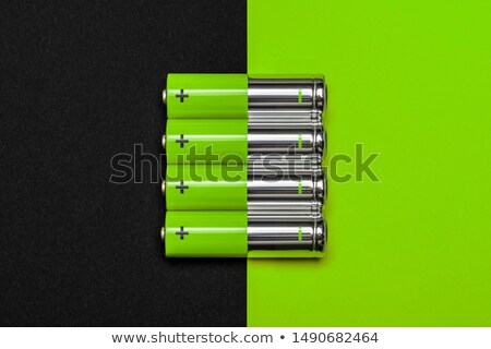 green energy battery cell isolated stock photo © anterovium