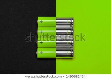 Groene energie batterij cel geïsoleerd witte achtergrond Stockfoto © Anterovium