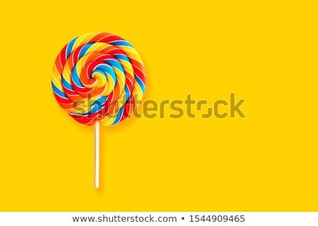 ストックフォト: カラフル · スパイラル · ロリポップ · キャンディー · 開く · 白