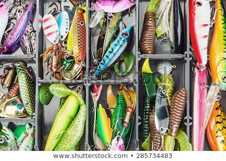 Pêche appât blanche couleur trois isolé Photo stock © vtls