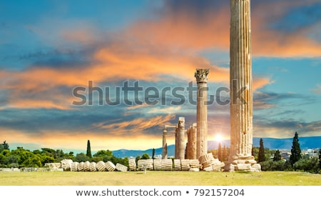 Temple of Olympian Zeus in Athens Stock photo © AndreyKr