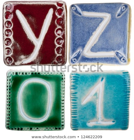 handmade ceramic letter z stock photo © taigi