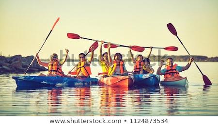 Család kajak illusztráció víz gyerekek sport Stock fotó © adrenalina