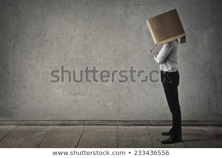 Business man with box on head Stock photo © fuzzbones0