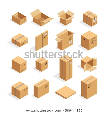 different symbols from cardboard boxes  Stock photo © caimacanul