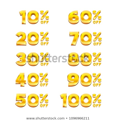 100 Percent Original golden Vector Icon Design Stock photo © rizwanali3d