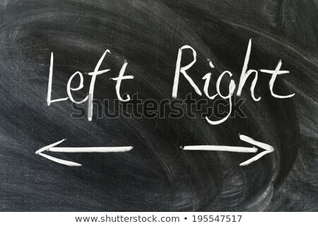 Arrows with left and right direction drawn in chalk Stock photo © RAStudio
