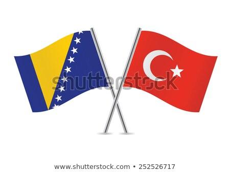 Turquía Bosnia Herzegovina banderas rompecabezas aislado blanco Foto stock © Istanbul2009