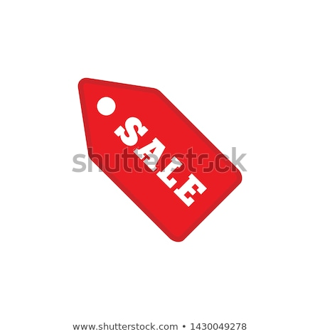tag cardboard isolated on white background Stock photo © tetkoren