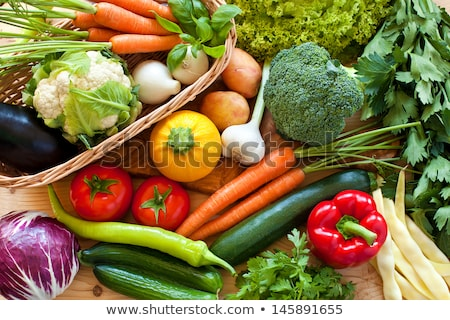 Frame of Raw Vegetables Stock photo © zhekos