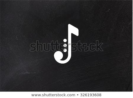Saxofoon icon krijt Blackboard Stockfoto © RAStudio