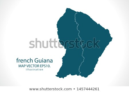 Brazil and French Guiana Flags Stock photo © Istanbul2009