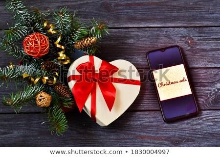 Smartphone Snowflakes Ribbon Sale Stock photo © limbi007
