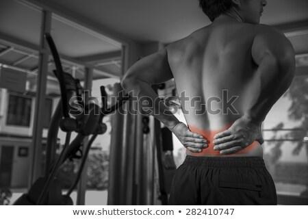 Caber morena de volta ferimento branco saúde Foto stock © wavebreak_media