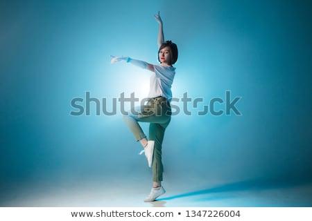 молодые · привлекательный · современных · балерина · прыжки · белый - Сток-фото © handmademedia