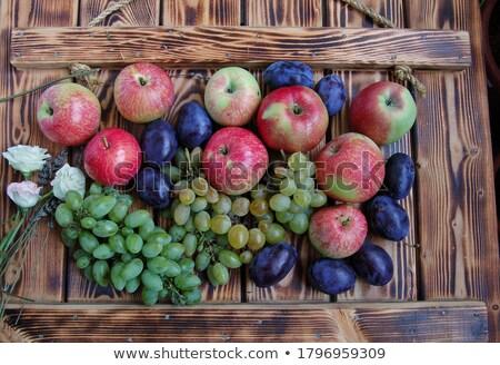 apple and plum stock photo © constantinhurghea
