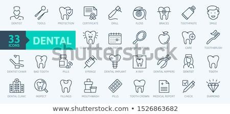 293ffd9ea Vetor · conjunto · dentista · dente · cuidar · ícones - ilustração ...