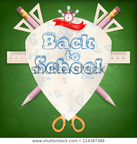 Back to school coat of arms. EPS 10 Stock photo © beholdereye