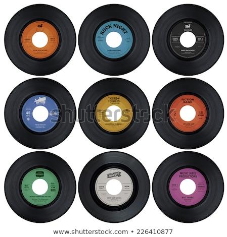 rekord · winylu · zielone · etykiety · pokój - zdjęcia stock © nicemonkey