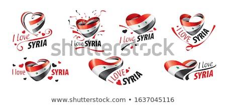 bandiera · Siria · illustrazione · star · rosso - foto d'archivio © orensila