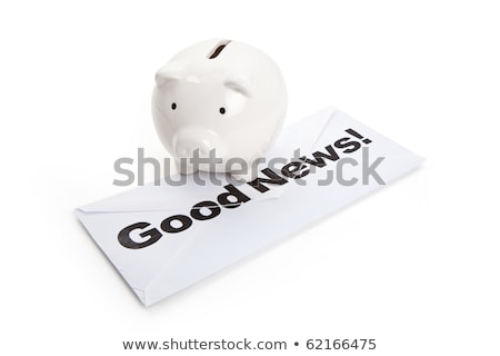 良いニュース 貯金 成功 ストックフォト © devon