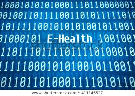 bináris · kód · szó · phishing · központ · biztonság · hálózat - stock fotó © zerbor