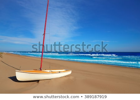 Cullera Mediterranean sea in Valencia Spain Stock photo © lunamarina