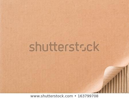 Karton gekruld hoek grens top laag Stockfoto © pakete