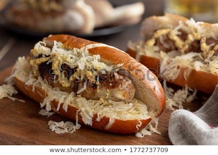 Grilling bratwursts Stock photo © Digifoodstock