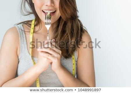 táplálkozás · választás · portré · káprázatos · fiatal · barna · hajú - stock fotó © lightsource