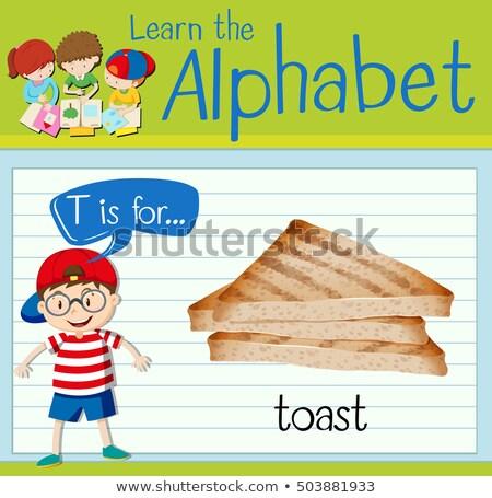 Alfabeto brindis ilustración alimentos ninos nino Foto stock © bluering
