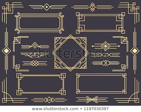 Foto stock: Decorativo · línea · arte · marco · plantilla · de · diseño · elegante