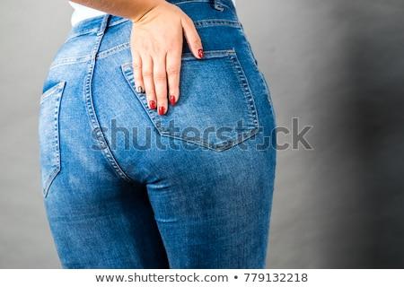 Heupen denim jeans kleding geïsoleerd studio Stockfoto © user_9834712