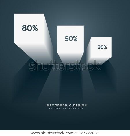 3D gráfico de barras traçar Foto stock © SArts