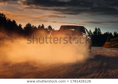 Pickup Truck Sand Sunset Stock photo © rghenry