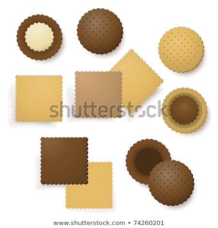 Vanilya çikolata kurabiye İtalyan bisküvi İtalyan gıda Stok fotoğraf © Digifoodstock