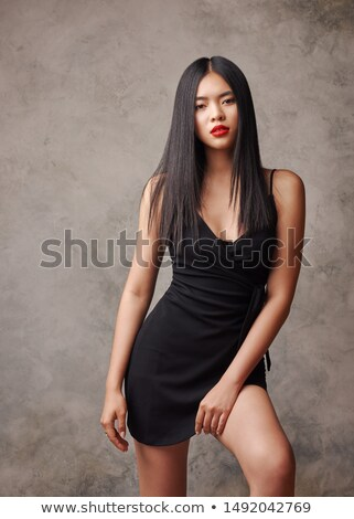 Gorgeous young asian model with bright makeup Stock photo © deandrobot