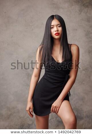 Jovem asiático modelo brilhante make-up Foto stock © deandrobot
