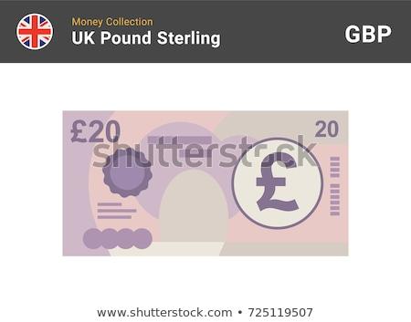 Pond valuta 20 geld papier Stockfoto © michaklootwijk